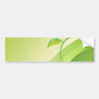 Green Leaf Background Bumper Sticker