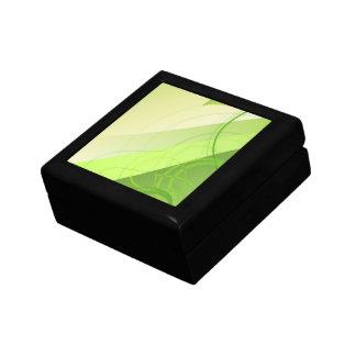 Green Leaf Background Gift Box