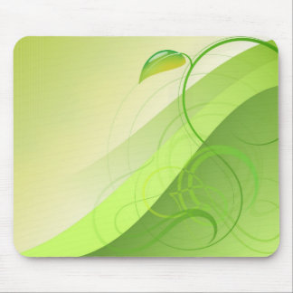 Green Leaf Background Mouse Pad