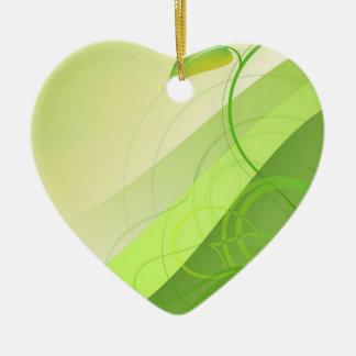 Green Leaf Background Ornament