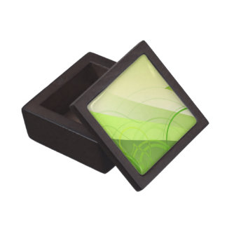 Green Leaf Background Premium Gift Box