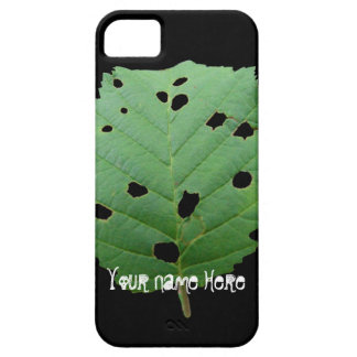 Green Leaf Black Background; Customizable iPhone SE/5/5s Case
