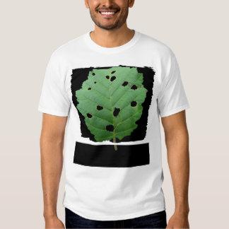 Green Leaf Black Background T Shirt