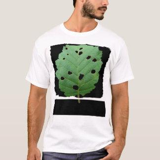 Green Leaf Black Background T-Shirt