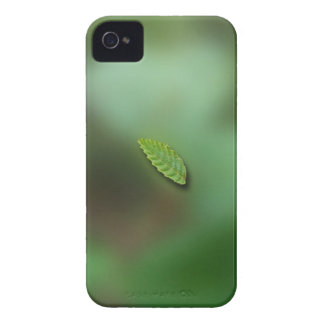 Green Leaf Blurred Background; No Greeting Case-Mate iPhone 4 Case