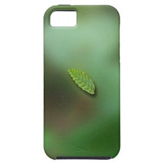 Green Leaf Blurred Background; No Greeting iPhone SE/5/5s Case
