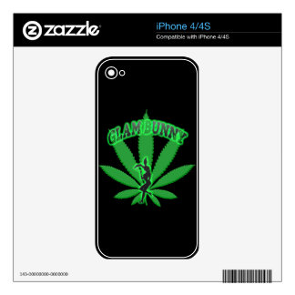 Green Leaf Bunny Logo Skin For iPhone 4S