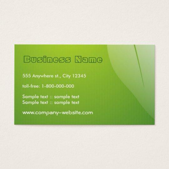 Green Leaf Business Card