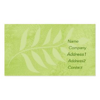 green leaf business card.