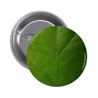 Green Leaf 2 Inch Round Button