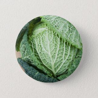 Green Leaf Cabbage Pinback Button