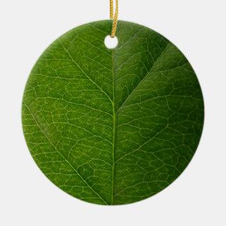 Green Leaf Ceramic Ornament