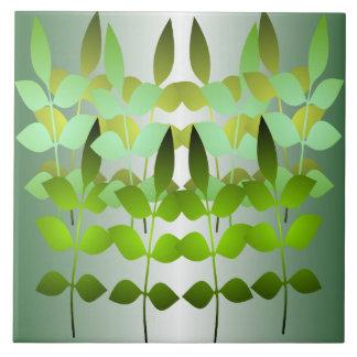 Green Leaf Ceramic Tile