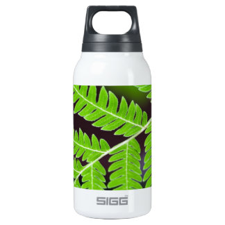 Green Leaf Closeup Insulated Water Bottle