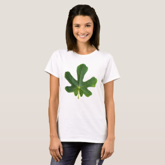 Green leaf closeup isolated on white background T-Shirt