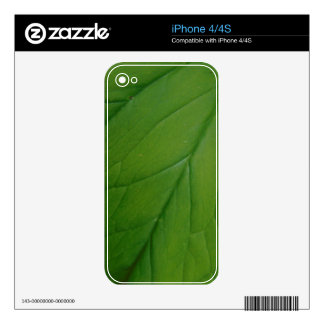 Green Leaf Decals For iPhone 4