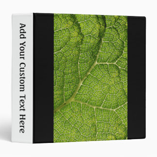 Green Leaf. Digital Art. 3 Ring Binder