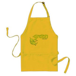 Green Leaf Doodle Art Apron