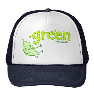 Green Leaf Doodle Art Hat