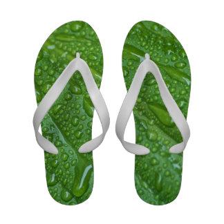 GREEN LEAF DROPS Flip-Flops
