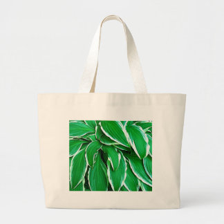 Green Leaf Flower Tress Eco Nature Beautiful Fashi Large Tote Bag
