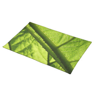 Green Leaf, focused on spiny center. Place Mat