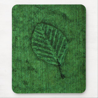 Green Leaf fossil Mouse Pad