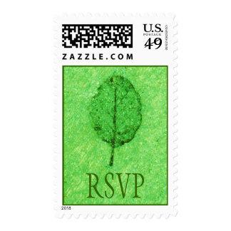 Green Leaf Fossil RSVP Postage
