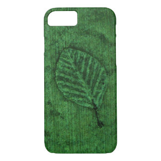 Green Leaf Fossils iPhone 7 Case