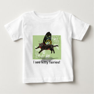 green leaf funny cat fairy butterfly kids shirts