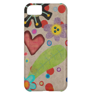 Green Leaf heart Flora iPhone 5C Case