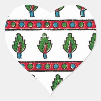 green leaf heart sticker