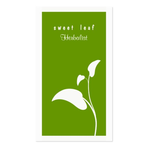 Green leaf herbalist business card zazzle for Leaf business cards