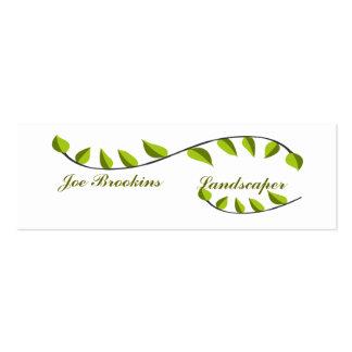 Green Leaf Illustration Business Cards