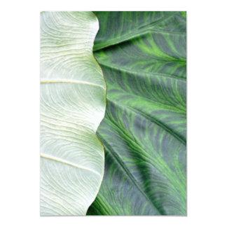 """Green Leaf 5"""" X 7"""" Invitation Card"""