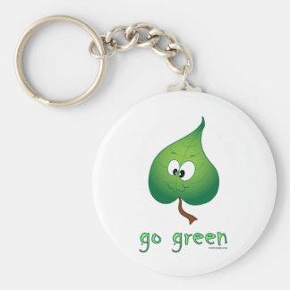 Green Leaf Key Chains