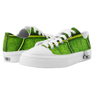 Green Leaf Low-Top Sneakers