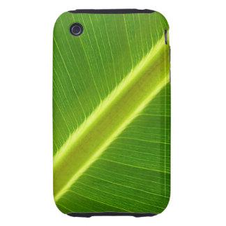 Green Leaf Macro Tough iPhone 3 Case