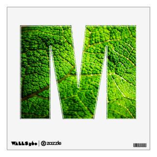 Green Leaf Macro Wall Decal