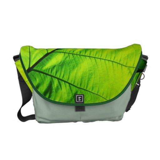 Green Leaf Messenger Bags