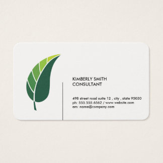 Green Leaf / Minimalist Business Card