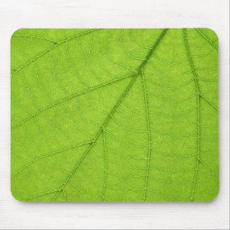 Green leaf mousepad