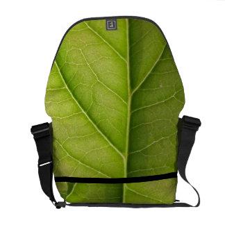 Green Leaf Nature Lover Messenger Bag