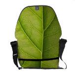 Green Leaf Nature Lover Messenger Bags