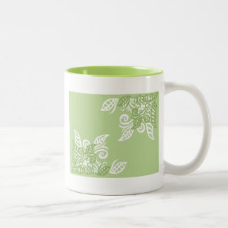 Green leaf nature plant pattern mugs