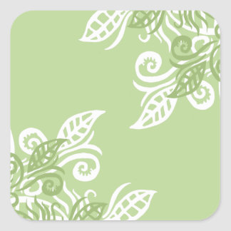 Green leaf nature plant pattern stickers