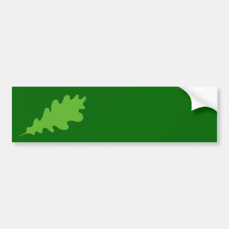 Green Leaf, Oak Tree leaf Design. Car Bumper Sticker
