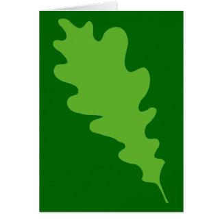Green Leaf, Oak Tree leaf Design. Card