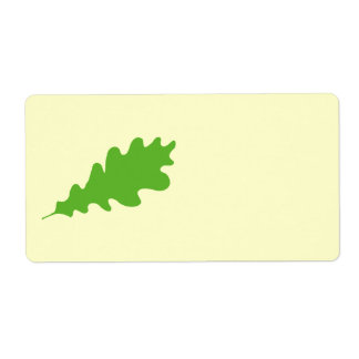 Green Leaf, Oak Tree leaf Design. Shipping Label