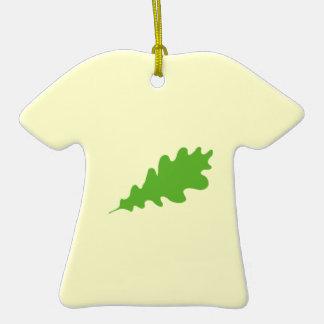 Green Leaf Oak Tree leaf Design Christmas Tree Ornament